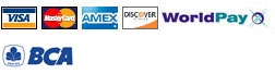 Accepted payment for visa, mastercard, amex, discovery dan worldpay